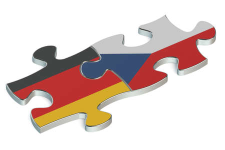 the czech republic: Czech Republic and Germany puzzles from flags
