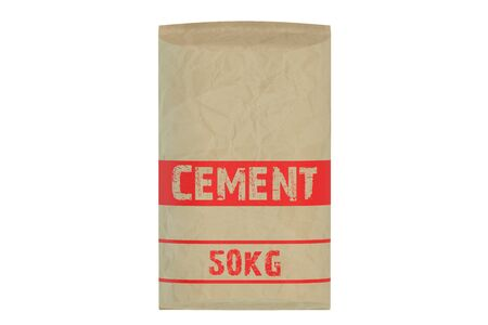 sacks: cement bag isolated on white background