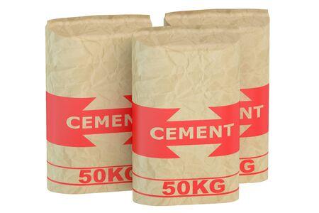 sacks: Cement sacks isolated on white background