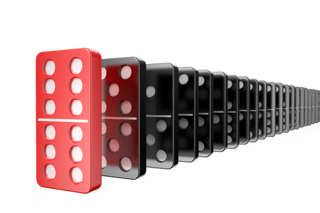 success concept: domino, success concept isolated on white background