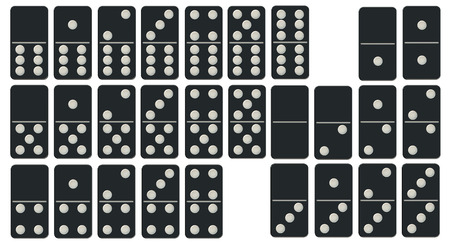 domino effect: Dominoes Set isolated on white background