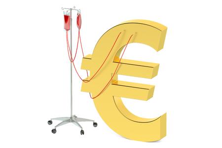 golde: euro crisis concept isolated on white background