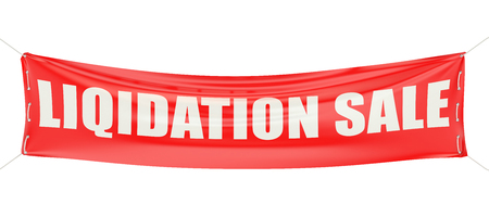 liquidation sale concept on the red banner