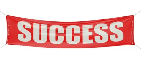 starting a business: success concept on the red banner Stock Photo