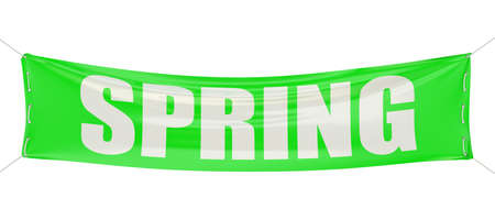 vernal: spring concept on the green banner