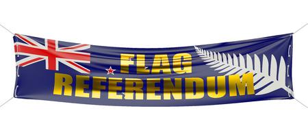 bandera de nueva zelanda: Nueva Zelanda bandera concepto refer�ndum sobre el BANNE roja