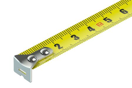 measuring: tape measure isolated on white background Stock Photo