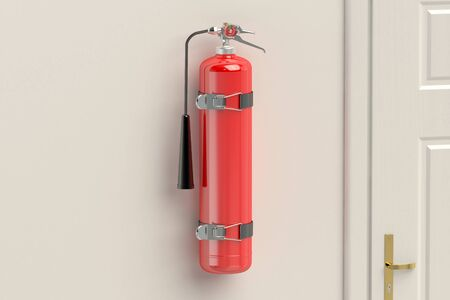 suppression: fire extinguisher on the wall