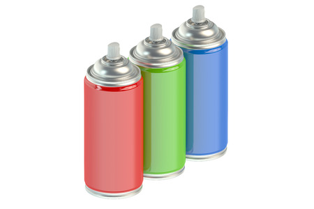 paint cans: spray paint cans isolated on white background