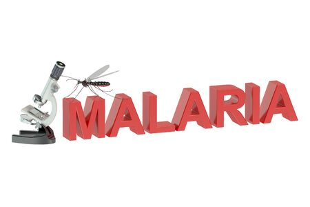 quarantine: Malaria concept isolated on white background