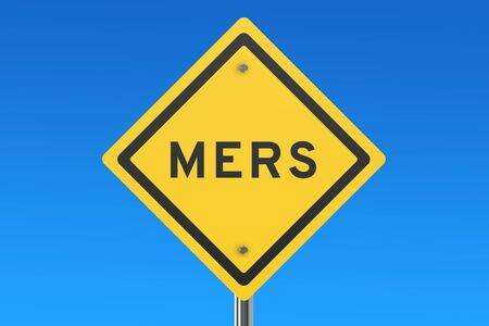 coronavirus: Mers sign isolated on blue sky Stock Photo
