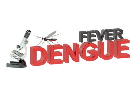 quarantine: fever dengue concept isolated on white background