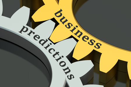 predictions: Business Predictions concept on the gearwheels Stock Photo