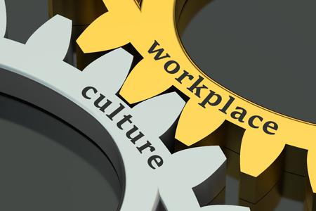 modernization: Workplace Culture concept on the gearwheels