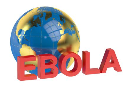 ebola: Ebola concept isolated on white background