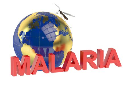 quarantine: Malaria concept isolated on white background