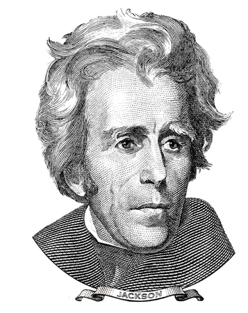 us paper currency: President of the United States Andrew Jackson portrait
