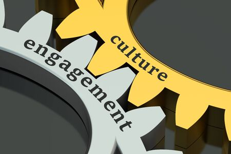 engagements: culture engagement concept isolated on black background Stock Photo