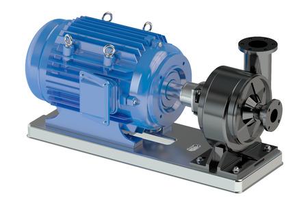 bomba de agua: bomba eléctrica de agua aisladas sobre fondo blanco Foto de archivo