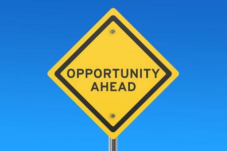 ahead: opportunity ahead isolated on blue sky Stock Photo