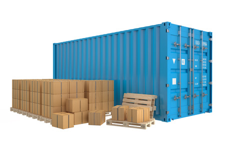 Cargo shipping concept isolated on white background