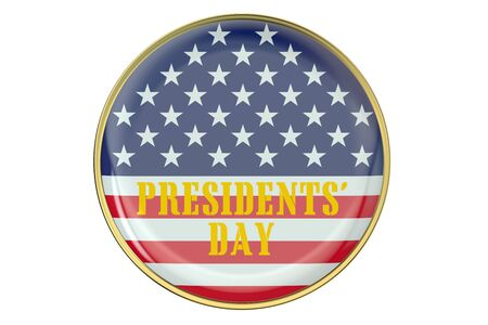 presidents: Presidents Day concept with badge  isolated on white background