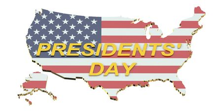 presidents day: Presidents Day concept isolated on white background