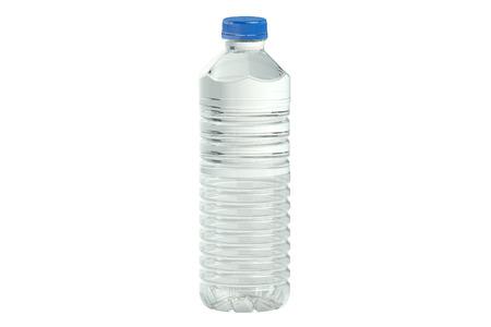 fles water geïsoleerd op witte achtergrond