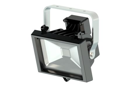 light emitting diode: LED spotlight isolated on white background