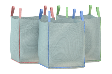 Bulk bags isolated on the white background