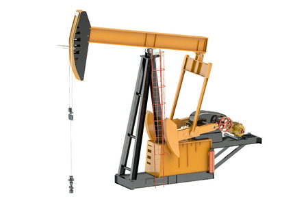 pumpjack: Pumpjack isolated on white background