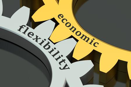 flexible business: Economic Flexibility concept on the gearwheels