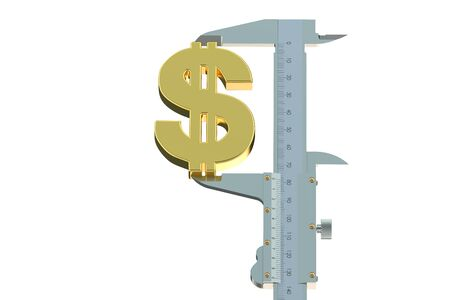 exchange rate: dollar exchange rate measuring concept isolated on white background
