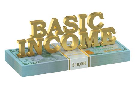 basic: usa basic income concept