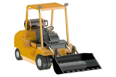 compact track loader: Skid-steer loader isolated on white background