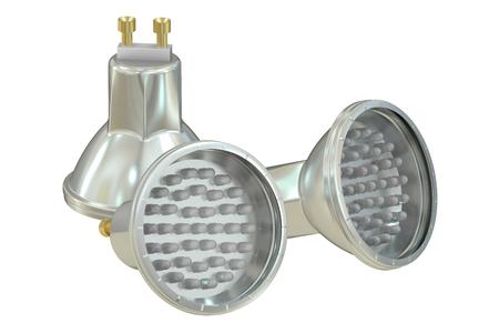 light emitting diode: LED lamps isolated on white background