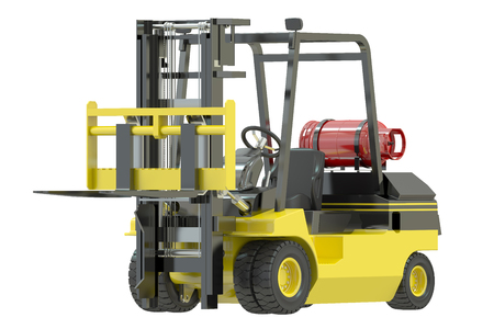 autotruck: Forklift truck isolated on white background