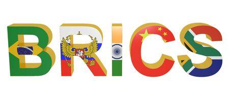 brics: BRICS concept isolated on white background