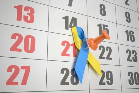 calendar date: World Down Syndrome Day concept