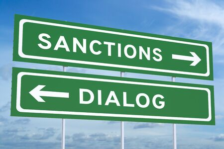 right vs wrong: sanctions or dialog green road signs