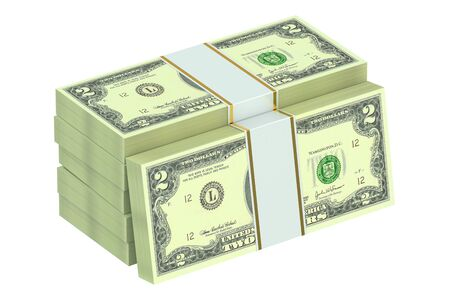 paper wad: packs of dollars isolated on white background