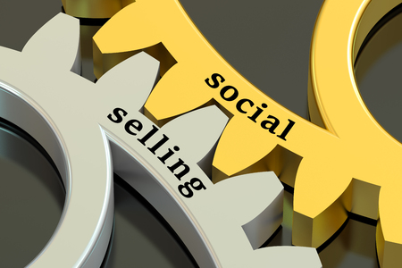 social  selling concept  isolated on black background Standard-Bild