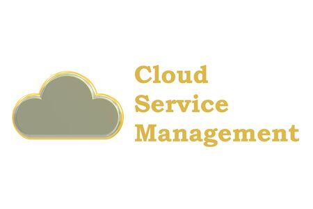 cloud service: cloud service management concept isolated on white background