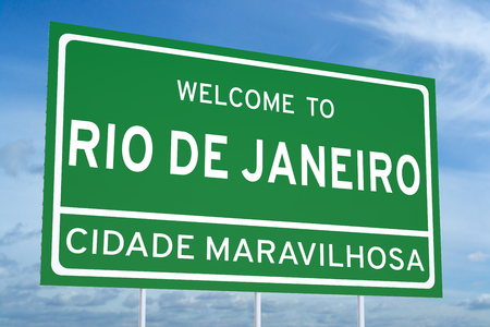 janeiro: Welcome to Rio de Janeiro concept on road billboard