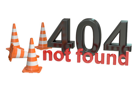 not found: 404 not found concept isolated on white background Stock Photo