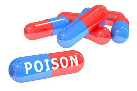 antidote: poison pills isolated on white background