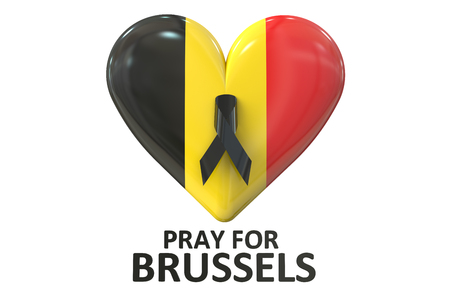 shootings: Pray for Brussels concept Stock Photo