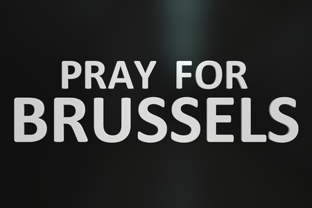 bombings: Pray for Brussels concept Stock Photo