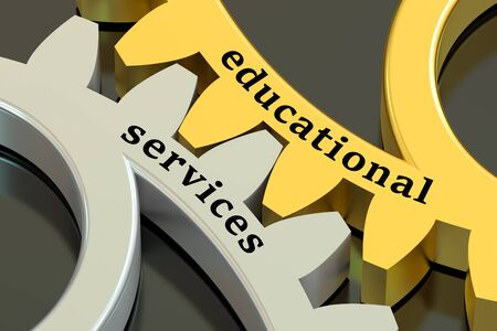 educational: educational services concept on the gearwheels