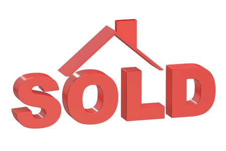buyer: Sold House concept, 3D rendering